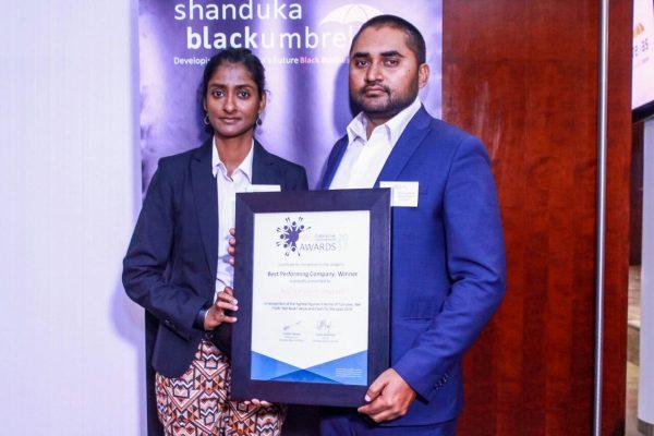 We won best performing company regionally at the Shanduka Black Umbrellas Awards
